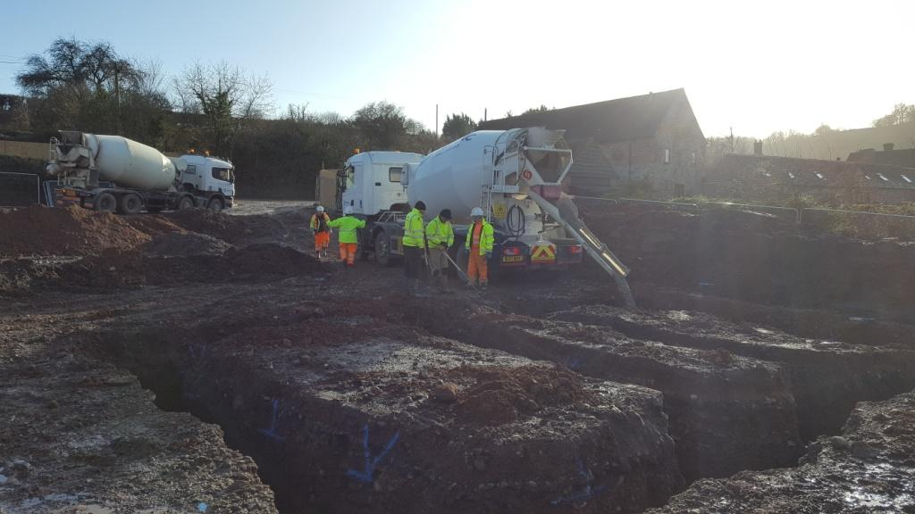 DBA Homes Morville Update - Pouring the concrete on our first plot!