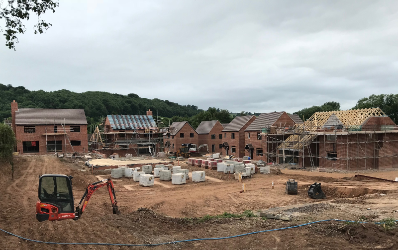 DBA Homes Morville Update - Midsummer...... mid build!