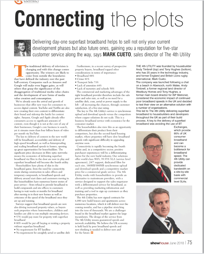Announcement - DBA Homes Managing Director, Andy Timbrell appears in Showhouse magazine.